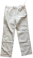Cos Ecru Cotton Trousers for Women