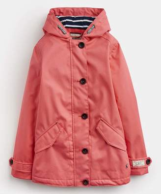 Joules Girls' Rain Coats BRIGHTCORL - Bright Coral Coast Raincoat - Toddler