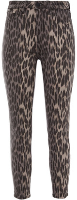 L'Agence Margot Cropped Leopard-print High-rise Skinny Jeans