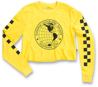 Vans X National Geographic Long Sleeve Cropped Tee