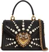 Dolce & Gabbana MINI DEVOTION EMBELLISHED MOIRE BAG