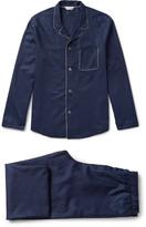 Derek Rose - Lombard Cotton-jacquard Pyjama Set