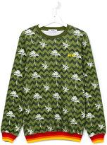 MSGM palm tree print sweatshirt - kids - Cotton - 14 yrs