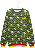 MSGM palm tree print sweatshirt