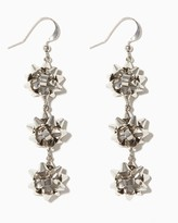 Charming charlie Triple Gift Bow Earrings