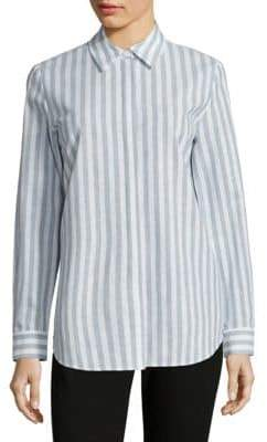 Lafayette 148 New York Brody Striped Cotton & Linen Blouse