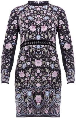 Needle & Thread Moody Floral Whisper Prom Embroidered Mini Dress