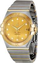 Omega Men's 123.20.35.20.58.001 Constellation Gold Dial Watch