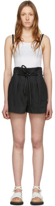 3.1 Phillip Lim Black Origami Pleated Shorts