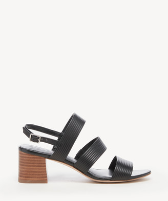 Sole Society Women's Saintah Tubular Sandals Black Size 5 Leather From