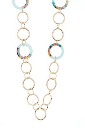 trina Trina Turk Multi Resin Link Chain Necklace