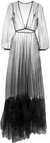 Alchemy Ruffle-Hem Tulle Maxi Dress