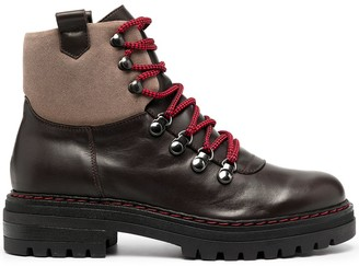 Peserico Two-Tone Lace-Up Boots