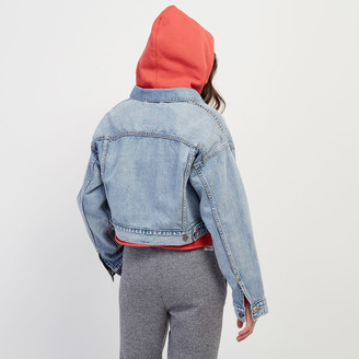 Roots Levis Crop Dad Trucker Jacket