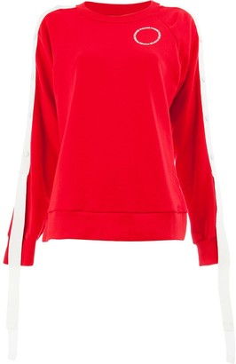 Monse Raglan Snap Sleeve Sweatshirt