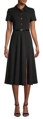 Calvin Klein Short-Sleeve Belted Shirtdress