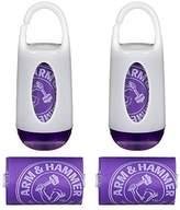 Munchkin Arm and Hammer Diaper Bag Dispenser, Purple/Purple, 2 Pack
