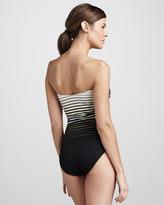 Gottex Riley Striped Bandeau One-Piece Swimsuit