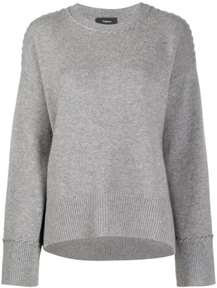Theory Rib-Trimmed Cashmere Jumper