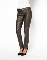 Blank NYC Skinny Jeans In Gold