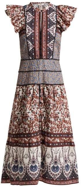 Sea Gemma Floral Print Dress - Womens - Pink Multi