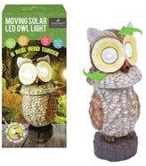 GardenKraft Owl with Moving Head Solar Spotlight