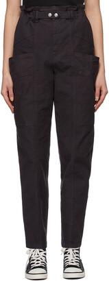 Isabel Marant Purple Linen Enucie Trousers