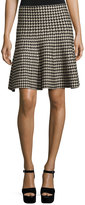 Max Studio A-Line Sweater Houndstooth Skirt, Black Pattern