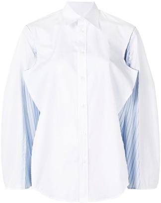 Maison Margiela Spliced Cut Underarm Button-Up Shirt