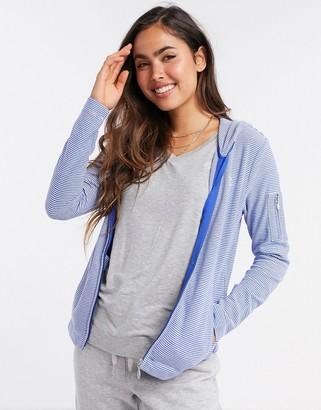 Lauren Ralph Lauren lounge zip through hoody in light blue