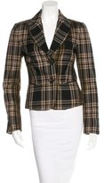 Bottega Veneta Plaid Wool Blazer