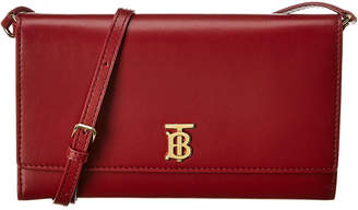 Burberry Monogram Motif Leather Continental Wallet On Chain