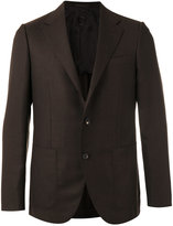 Caruso pocket-front blazer - men - Cupro/Wool - 48