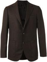Caruso pocket-front blazer