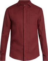 Giorgio Armani Single-cuff linen shirt