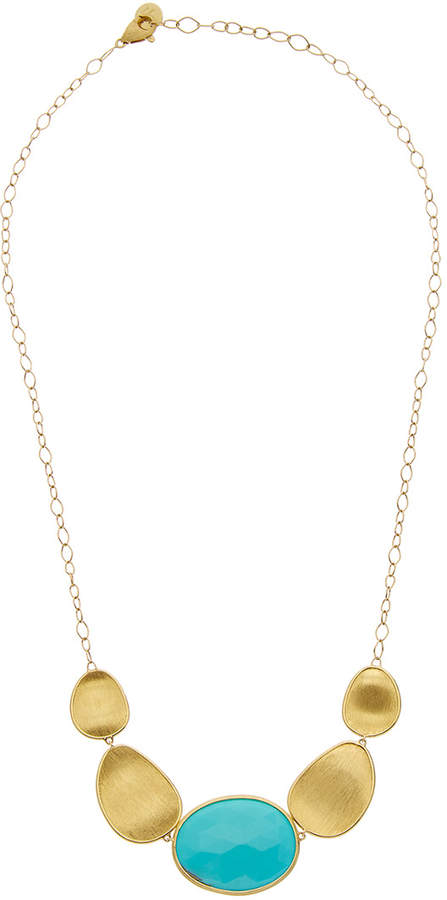 Marco Bicego Lunaria 18K Yellow Gold Turquoise Necklace