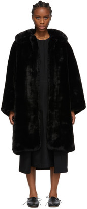 Comme des Garcons Black Faux-Fur Coat