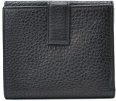 Salvatore Ferragamo Pre-Owned: black leather gancini detail french flap wallet