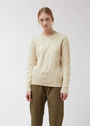 Pringle Roundneck Long Sleeve Cable Knit Merino Wool Sweater