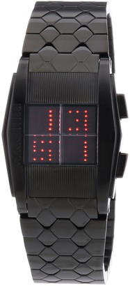 Cerruti Unisex Watch with Red Dial Display and Red Rubber Strap