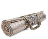 Holistic Silk Yoga Rug Mat Silver Geometric