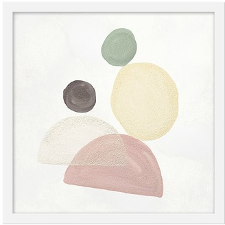 Pottery Barn Kids Abstract Pastel Shapes I Framed Art