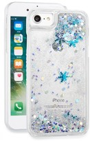 Skinnydip Glitter Snowflake Liquid Iphone 7 Case - Metallic