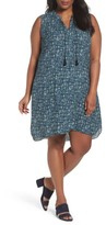Nic+Zoe Plus Size Women's Seaglass Tassel Shift Dress