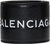 Balenciaga Black Cycle Logo Bracelet