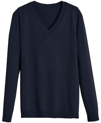 Cuyana Wool Cashmere Slim V-Neck Sweater