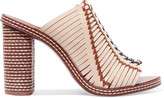 Tory Burch Pecha woven leather mules