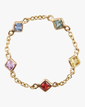 Yi Collection Sapphire Rainbow Chain Ring