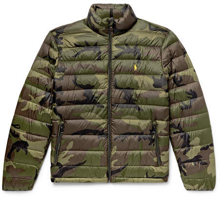 Polo Ralph Lauren Camouflage-Print Quilted Shell Down Jacket