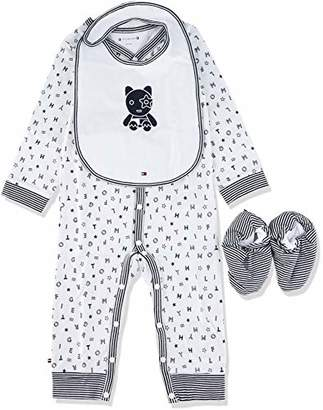 Tommy Hilfiger Baby Preppy Coverall Giftbox Clothing Set, (Apple Red/Multi 600), (Size: 56)